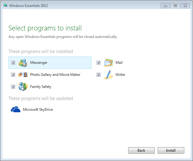 Windows Essentials 2012